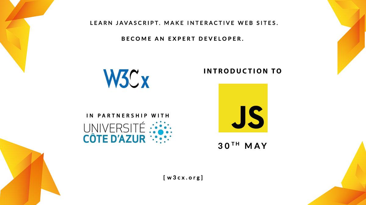 Annonce du cours JavaScript Intro de W3Cx