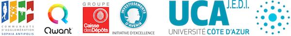 Parrains de la conférence Education et IA: CASA, Qwant, Caisse des Dépôts et UCA