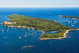 Vue aérienne de l'Ile Sainte Marguerite