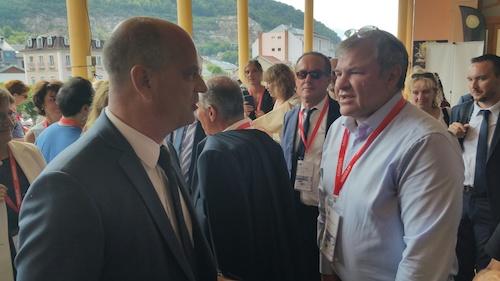 Le ministre JM Blanquer avec JB Piacentino, Qwant