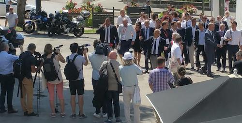Arrivée du ministre Jean-Michel Blanquer à Ludovia #15