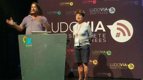 André Tricot et Françoise Cros à Ludovia #15