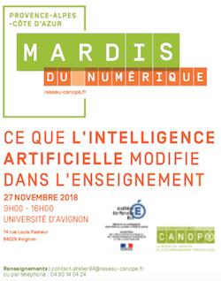 Affiche du Mardi du Numérique du 27 nov. 2018