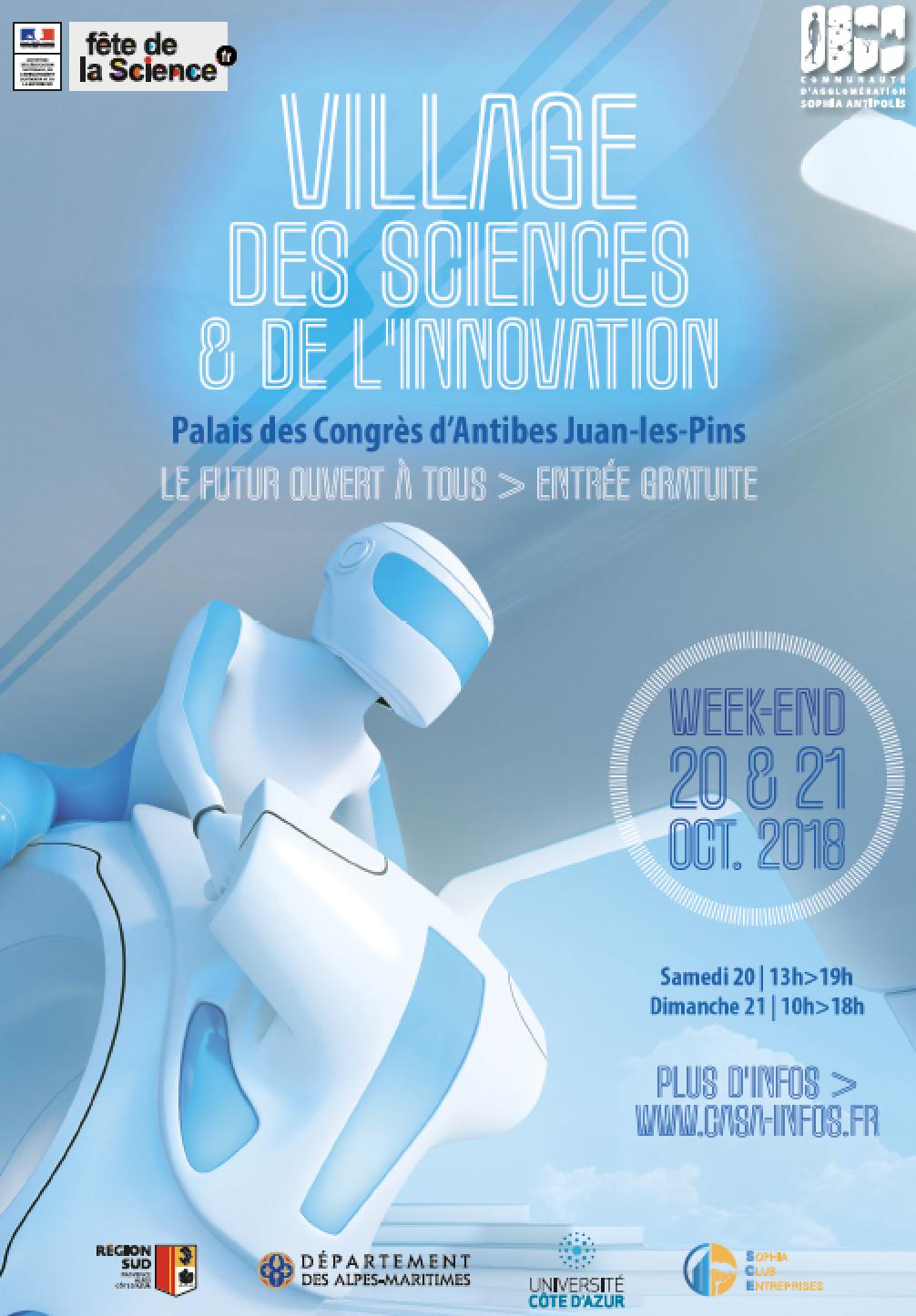 Affiche du Village Sciences et Innovation 2018