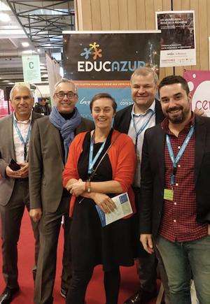 Les membres d'EducAzur sur le stand Territoires Apprenants à EducaTec