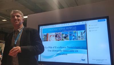 Eric Simon présente le Pôle d'Excellence Numérique de la ville de Valbonne