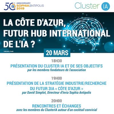 Déroulé de la soirée ClusterIA du 20 mars 2019