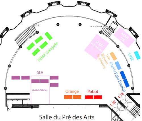 Plan des stands des membres EducAzur lors de la Semaine Numérique de Vabonne 2019