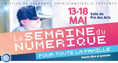 La semaine du numérique à Valbonne du 13 au 18 mai 2019