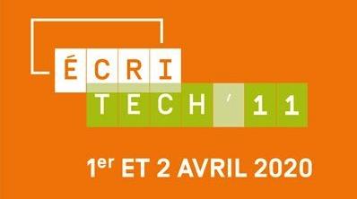 Visuel de la conférence EcriTech'11